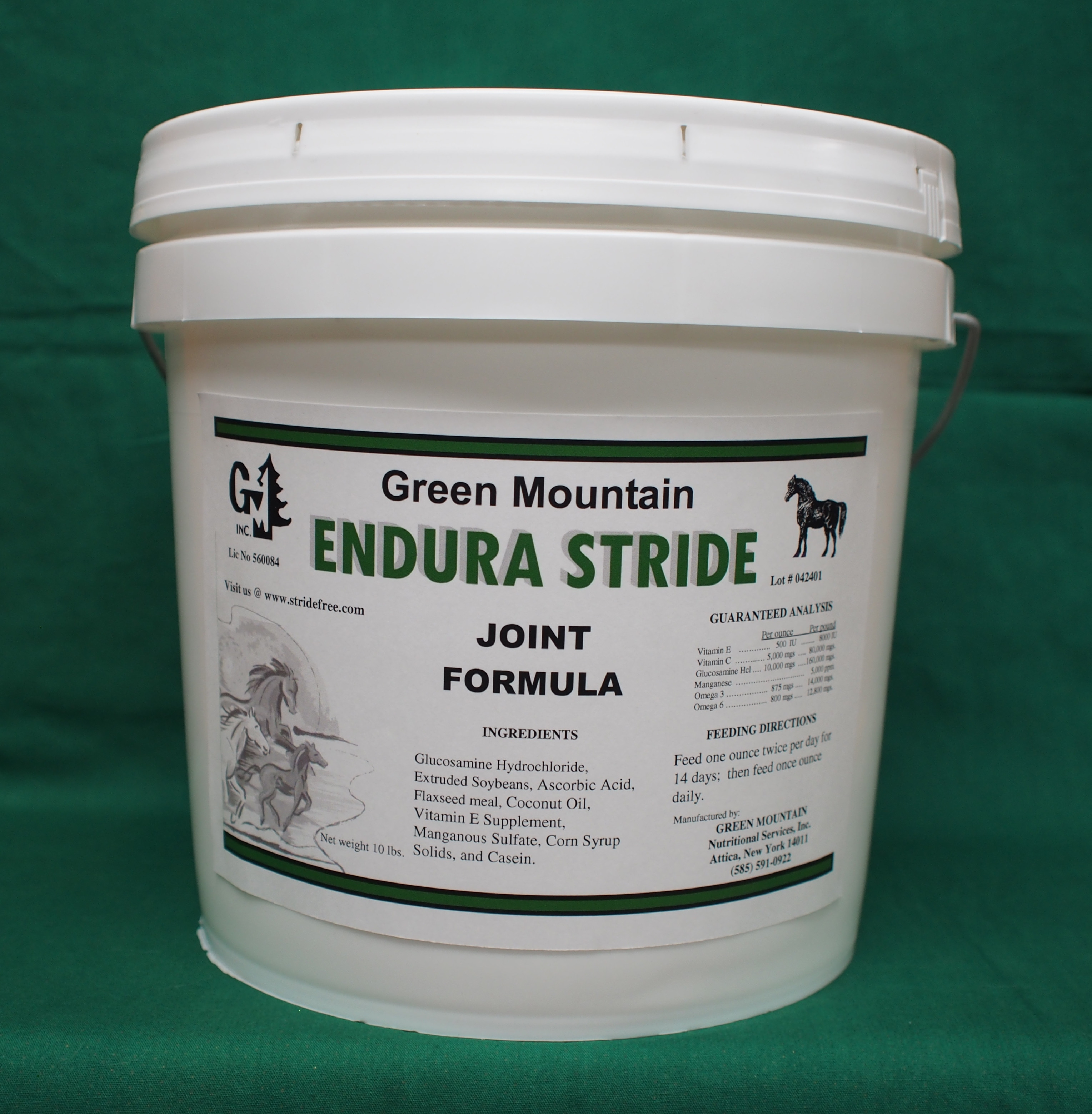 Endura Stride by Green Mountian Nutritional Services, Inc