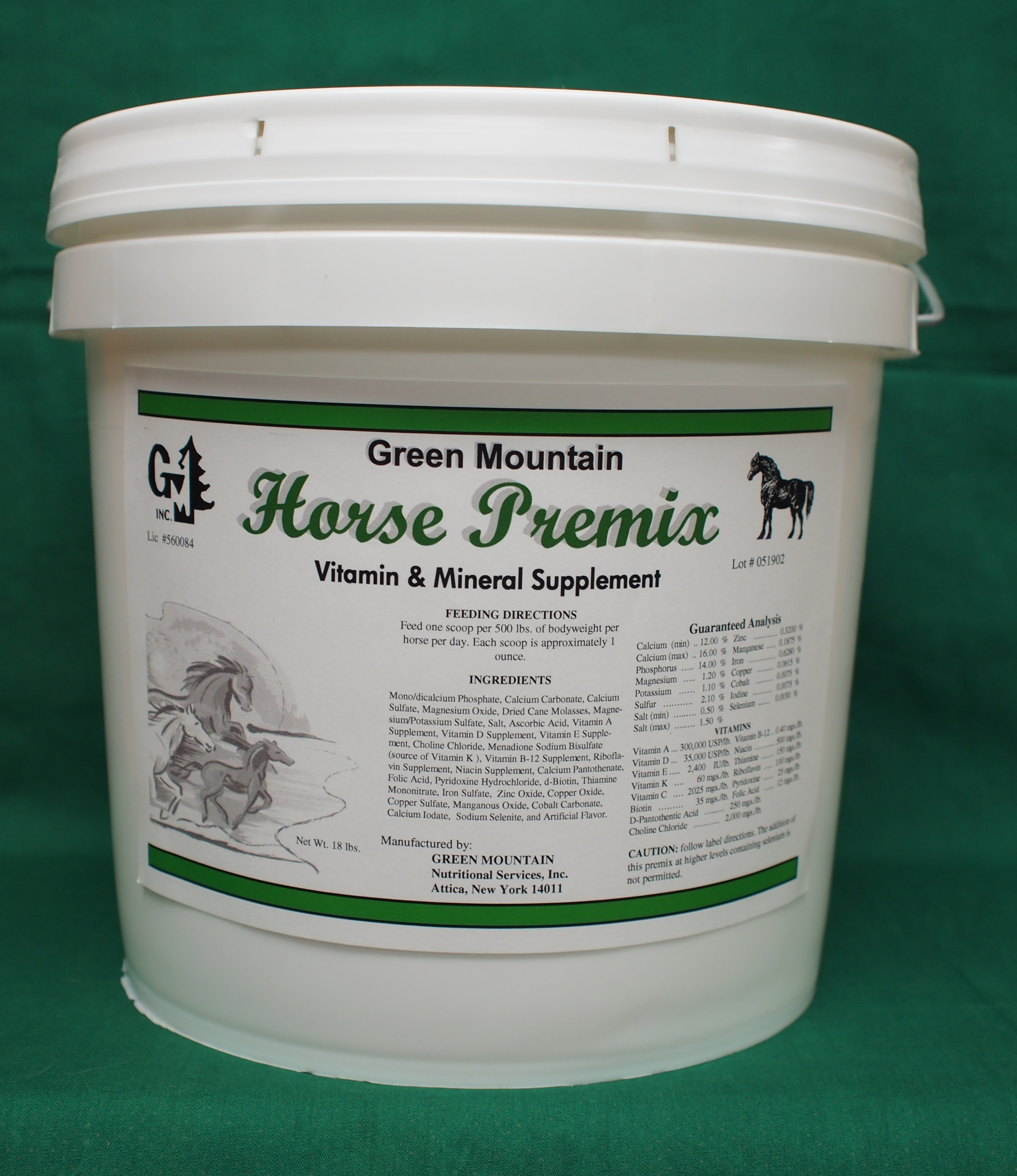 Horse Premix by Green Mountain Nutritional Services, Inc